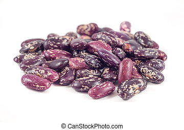 colorful beans isolated on white background.