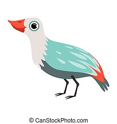 Colorful beautiful bird vector Illustration on a white background