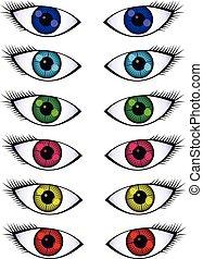 Colorful Beautiful Eyes