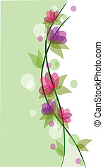 Colorful beauty flowers background