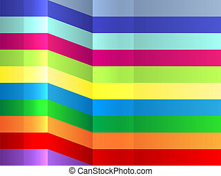 Colorful bending stripes background