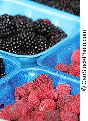 berries at farm market
