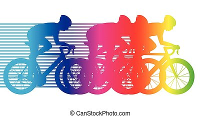colorful bicycle riding