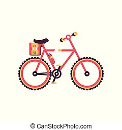 Colorful bike, modern bicycle vector Illustration