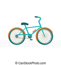 Colorful bike on the road