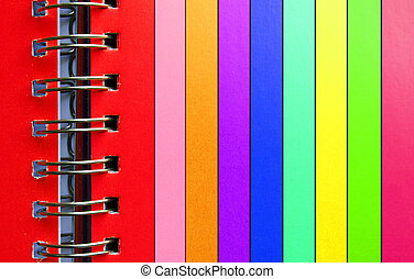 Colorful binder - Binder with colorful stripes of paper