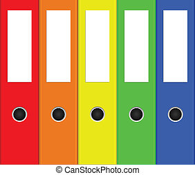 colorful binders - Vector illustration of colorful binders