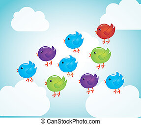 birds cartoons