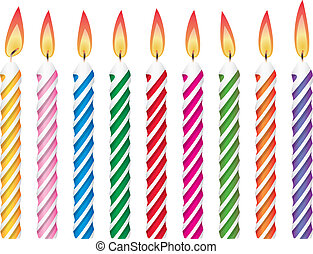 colorful birthday candles