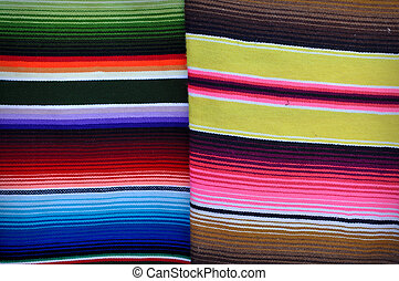 Colorful Blankets in Mexico