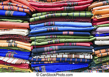 Colorful Blankets - market in Guatemala City