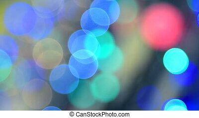 Colorful blinking Christmas lights