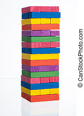colorful Blocks of wood