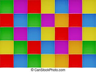 colorful blocks pattern background