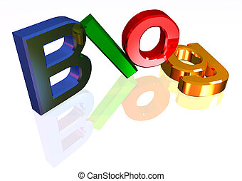 Colorful blog header - Colorful letters forming word blog
