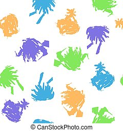 Colorful Blots on White Background