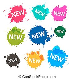 Colorful Blots - Stains - Splashes with New Title