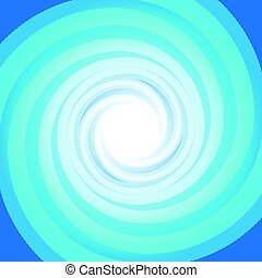Colorful Blue swirling cyclone background with space for text in center for abstract design concept