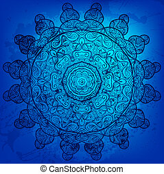 Colorful blue vector arabesque background for Your design