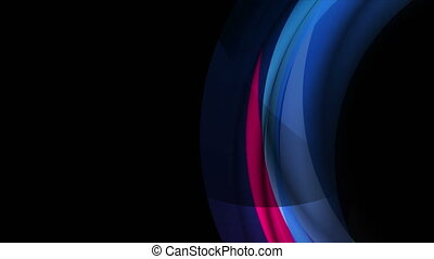 Colorful blue violet glowing abstract curved waves motion background