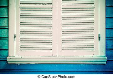 Colorful blue windows.