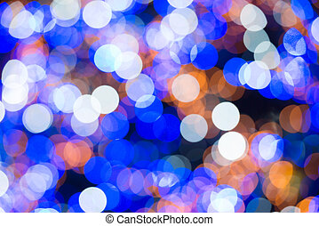 Colorful blurred abstract lights