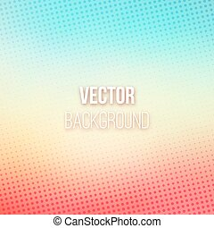 Colorful Blurred Background With Halftone Effect