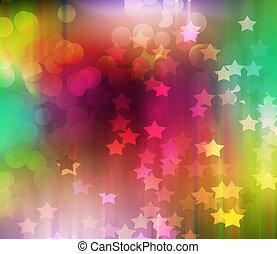 Colorful Blurred festive lights
