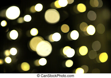 Colorful blurry bokeh on a black background