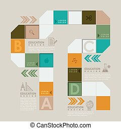 colorful board game or workflow infographic design -...