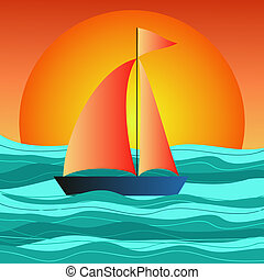 boat on the sea