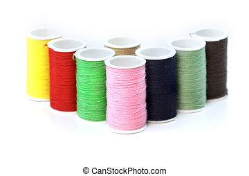 Colorful bobbins