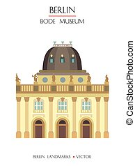 Colorful Bode Museum - Colorful vector Bode Museum front ...