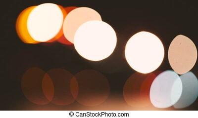 Colorful boke motion video. - Colorful boke motion on a dark...