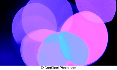 Colorful Bokeh From Christmas Garland