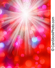 Colorful bokeh light background. EPS 8