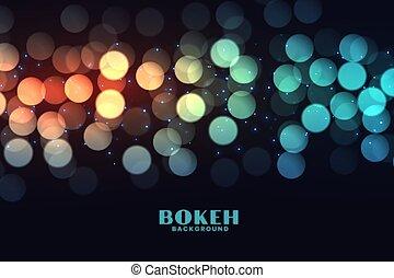 colorful bokeh lights effect on black background