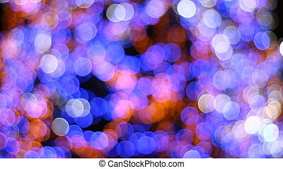 Colorful bokeh of a christmas tree