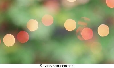 Colorful bokeh of Christmas lights tree. Static
