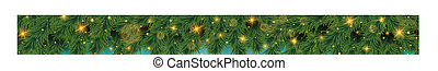 Colorful bokeh of Christmas tree with golden glitters pattern decoration background on soft green screen.