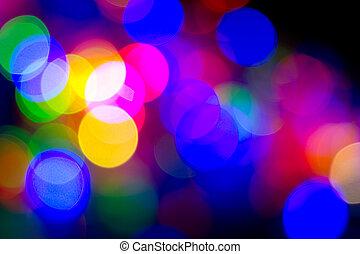 Colorful bokeh of lights