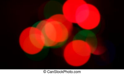bokeh - colorful bokeh on dark background
