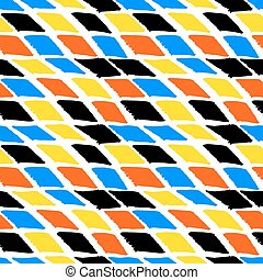 Colorful bold harlequin pattern