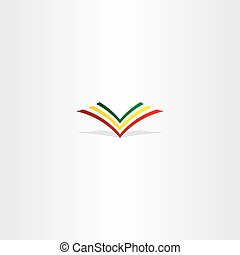 colorful book logo sign vector element