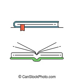 Colorful book on white background