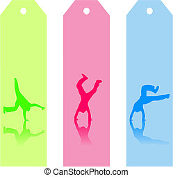 Colorful Bookmarks - Illustration of three colorful...