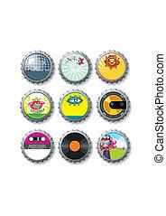 Colorful bottle caps 9