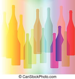 Colorful bottle on background
