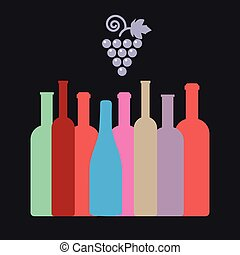 Bottles of Wine of Different Shapes