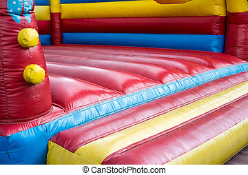colorful bouncy castle for children